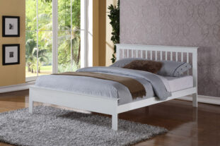 Pentre White Double Bed