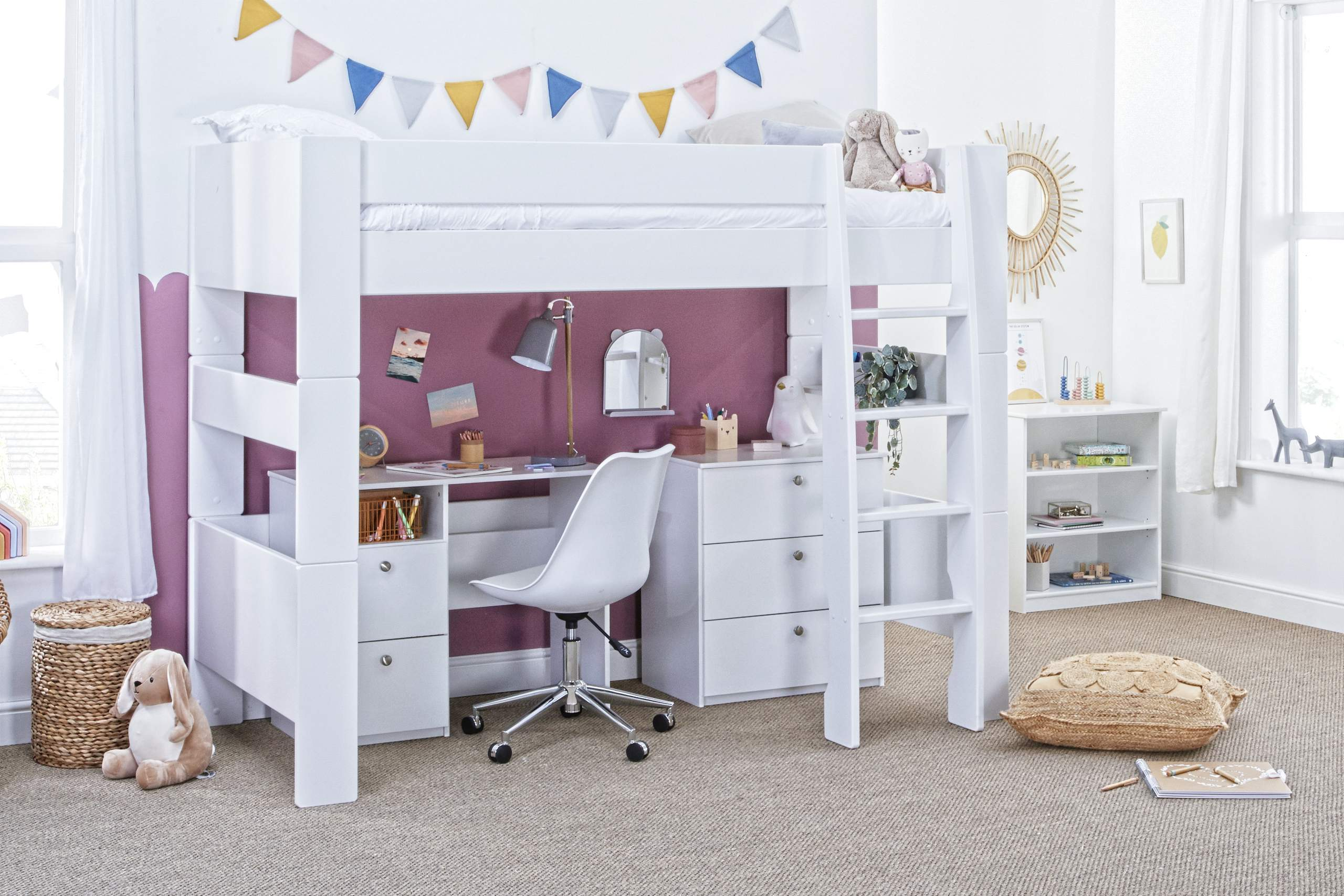 High Sleeper with Desk and chest
